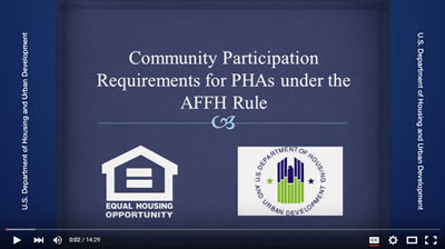 AFFH Community Participation Requirements for Public Housing Agencies Webcast