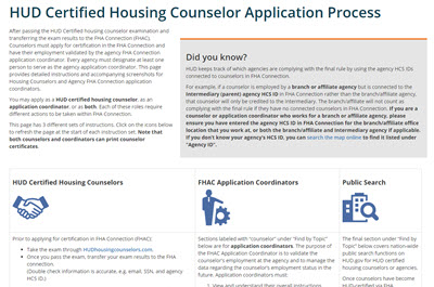Application Process Page Screenshot