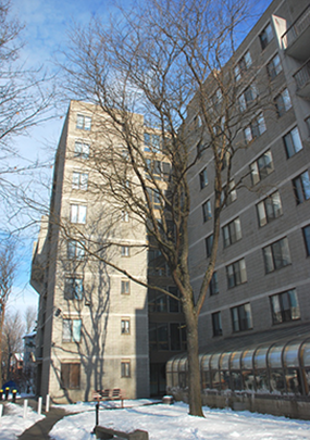 Exterior of Canterbury Towers apartments