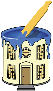 House as a paint bucket icon