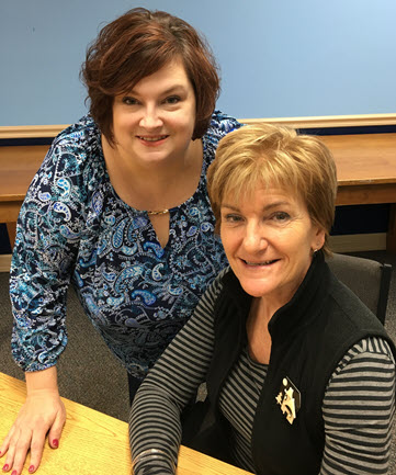 HUD-certified Housing Counselors Amy Bell and Jane Solokowski of Catholic Charities of Chemung/Schuyler