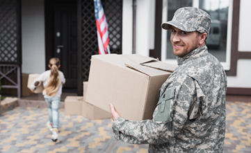 Service Member and daughter moving into a new home