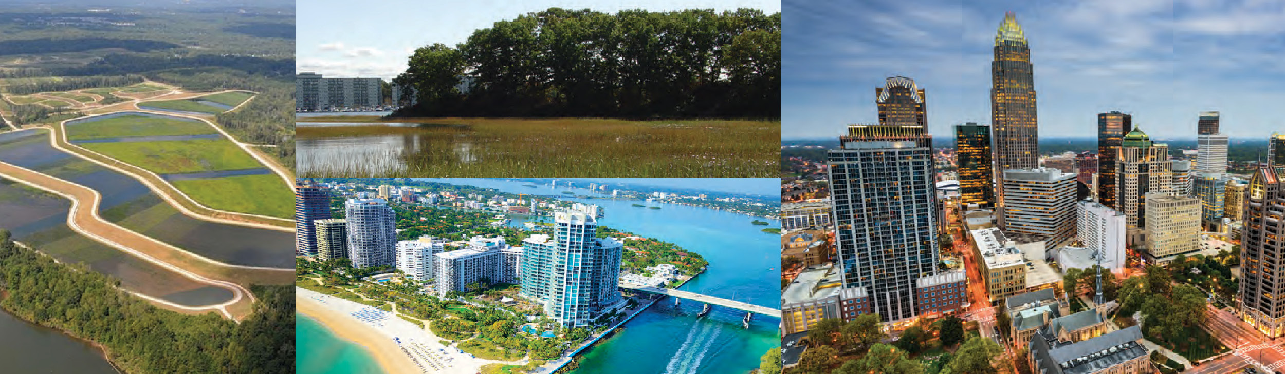 Collage of urban and rural areas