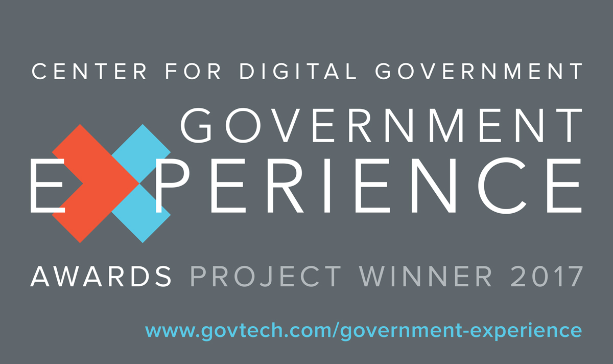 Center for Digital Government - Government Experience Awards Project Winner 2017