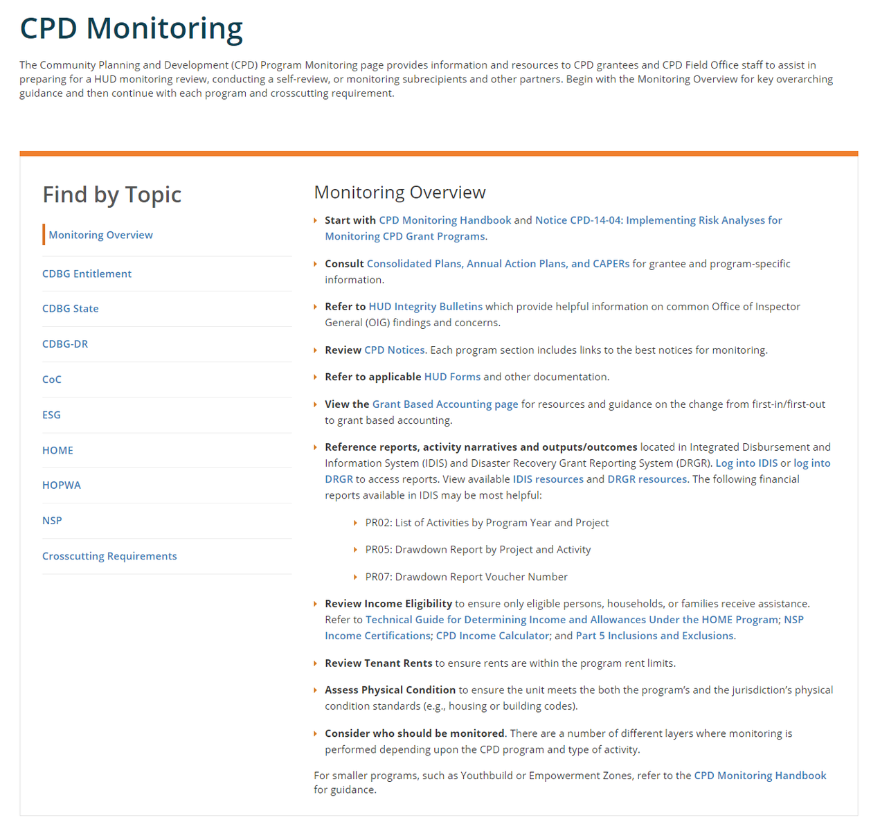 CPD Monitoring Page