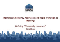 Chronic Homelessness Webinar Slide