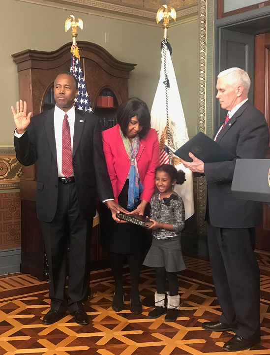 Dr. Ben Carson Swearing-In Ceremony