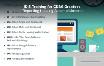 Reporting Accomplishments for Housing Activities