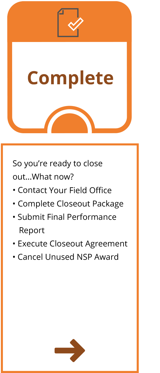 NSP Closeout Process - Complete