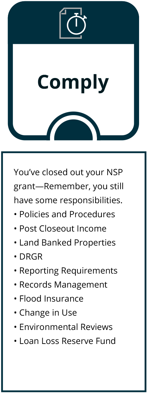 NSP Closeout Process - Comply