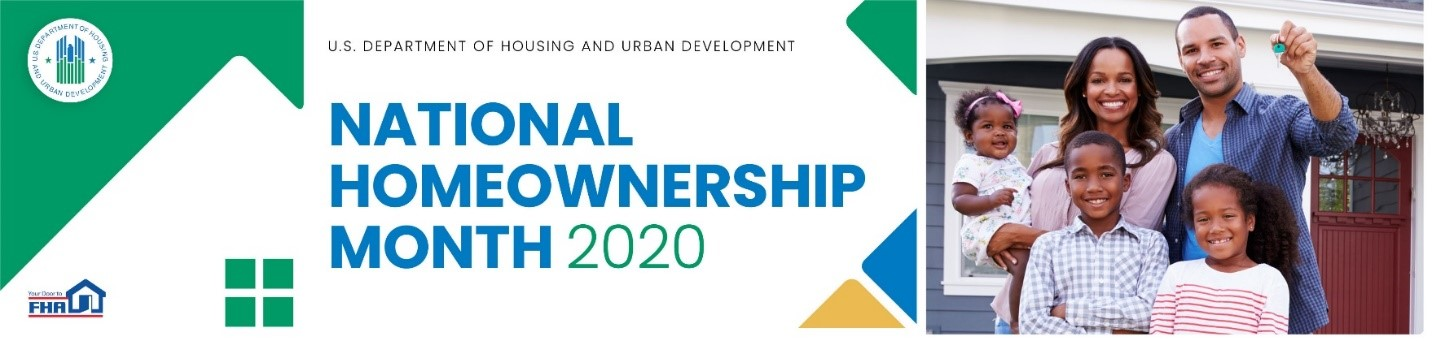 National Homeownership Month 2020