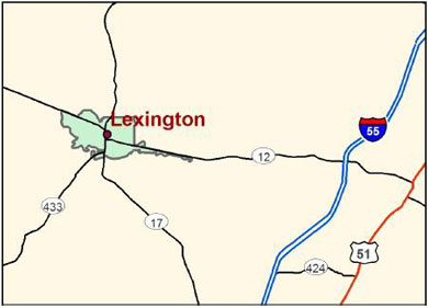 Lexington, Mississippi map