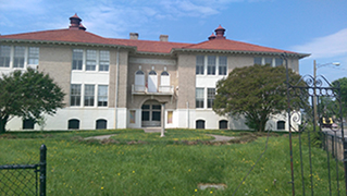 Former Brookland Plaza school house in Richmond, VA being converted into 77 senior housing units by Community Preservation and Development Corporation with the support of a $60,000 Section 4 grant from LISC.