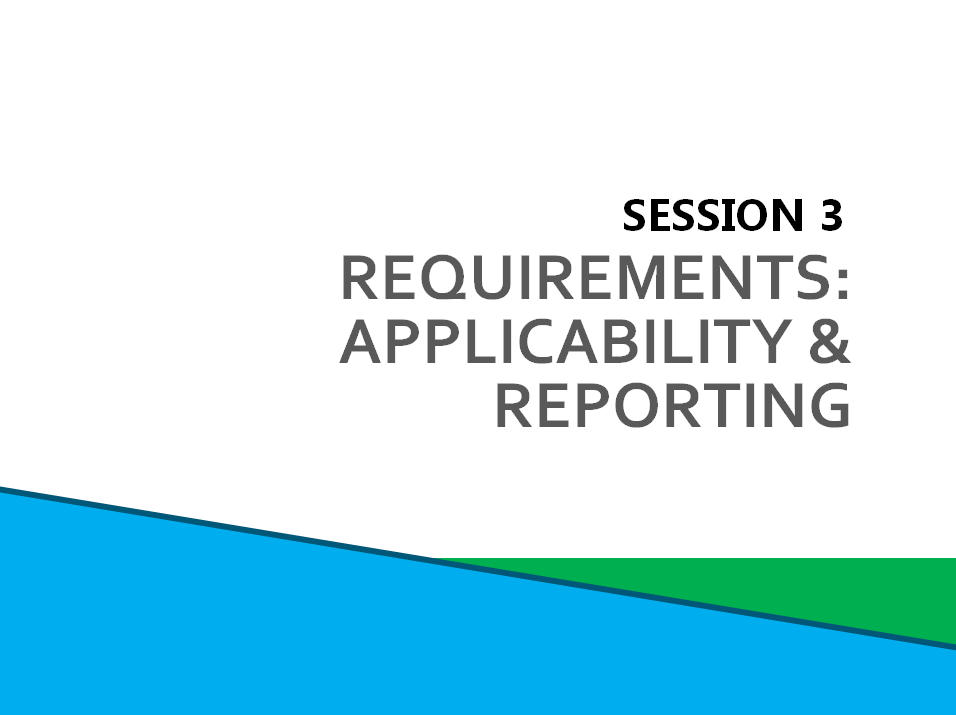 Session 3: Requirements screenshot