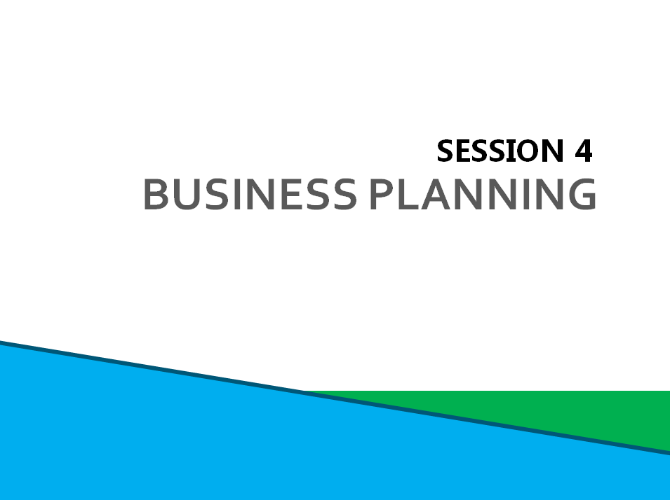 Session 4:Business Planning Screenshot