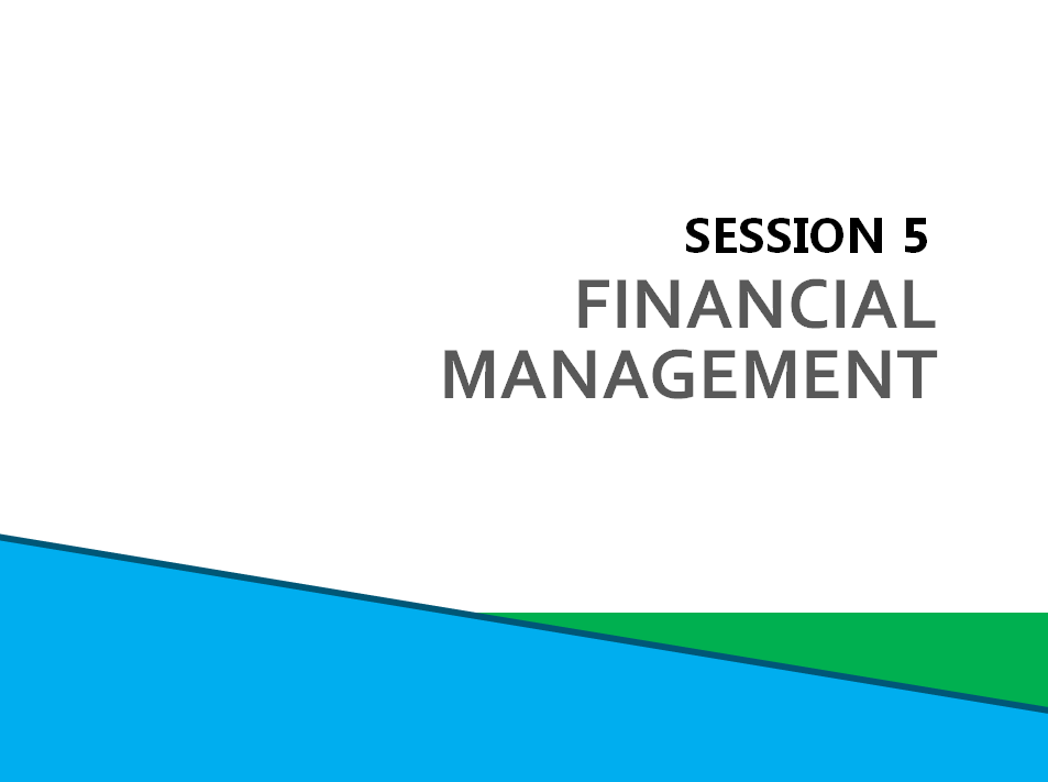 Session 5: Financial Management Screenshot