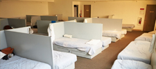beds at homeless shelter